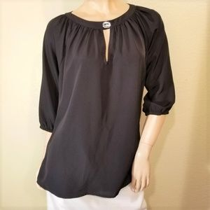 Kardashian Kollection Large Black Blouse